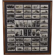 "Framed Full Set of Original Will's ""The Royal Navy"" Cigarette Photographic Cards"
