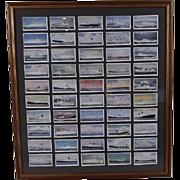 "Framed Full Set of Original Player's ""Shipping"" Cigarette Cards 1960"