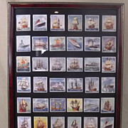 """Godfrey Phillip's """"Ships That have made History"""" 36 Cigarette Cards"""