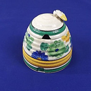 1930's Clarice Cliff Bee Hive Sungay Preserve Pot And Cover