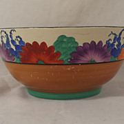 1930's Clarice Cliff Bizzare Gayday Pattern Bowl