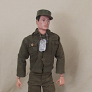 Palitoy Action Man Circa 1966 Basic Action Soldier & Manual