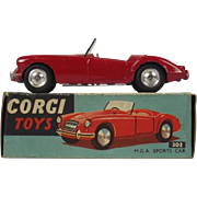 Corgi 302 M G A Sports Car 1957-1966