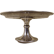 Sterling Silver Cake Stand / Tazza From The Ship Duke Of Lancaster - B'ham, 1969