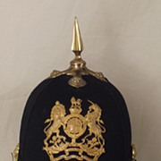 Royal Engineeers Post 1902 Spiked Black Cloth Helmet
