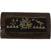 Circa 1800-30 Royal Navy Sailors Treen Snuff Box