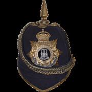Edwardian Dorsetshire Regiment Spiked Blue Cloth Helmet