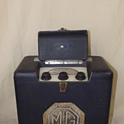 Original MG Cars 1940's Portable Valve Radio by Roberts Radio in Working Condition
