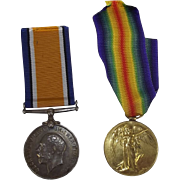 WW1 Medal Pair - Pte. J.E. Adams - Royal Warwickshire Regiment
