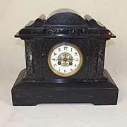 1889 Victorian Slate Clock By S. Marti et Co