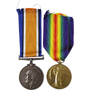 WW1 Medal Pair Pte. S. Ball East Lancashire Regiment