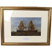 Late 19th Century Oil Of HMS Inflexible