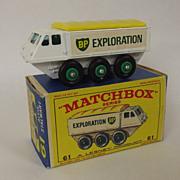 Vintage Matchbox Lesney No 61 BP Alvis Stalwart, Boxed