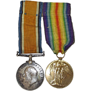 WW1 Medal Pair Awarded to Pte G. Pritchard Machine Gun Corp