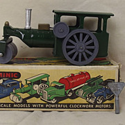 Boxed Triang Minic Post War Tinplate Clockwork Steam Roller