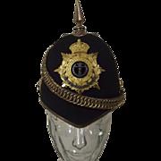 British Post 1902 Middlesex Regiment Officers Home Service Spikehelmet