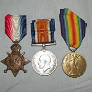 WW1 Medal Trio Awarded to 1275 PTE. L. Pickard. W. York. Regiment