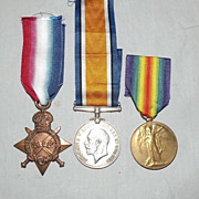WW1 1914/15 Star Medal Trio 10601 Pte. G. Powell. Ches.R