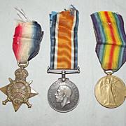 WW1 1914/15 Medal Trio - 19833 Pte. J. Bingham. Worc. R.
