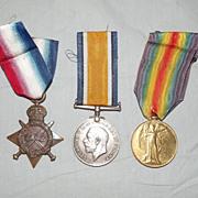 WW1 Medal 1914/15 Trio S. 10500 Pte. D. Fairley. Gord. Highrs.