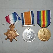 WW1 1914/15 Medal Trio - 4003 L-Cpl. J. McKenzie. Gord. Highrs