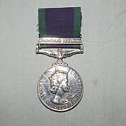 General Service Medal - Northern Ireland Clasp - 24172751 Gnr. J. Stewart RA