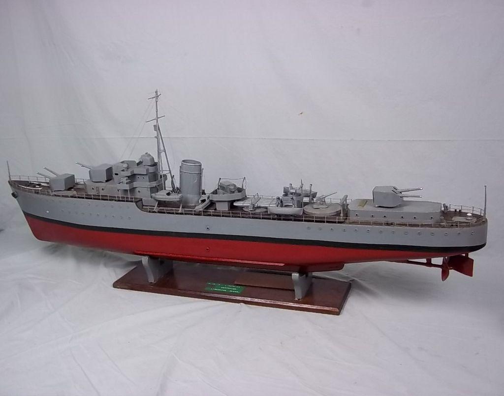 Pre War C1930 Scratch Built Live Steam Powered Royal Navy