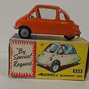 Boxed Corgi 233 Heinkel Bubble Car (Orange) 1961-64