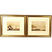 Pair Of Coastal Watercolours, Manner Of Samuel Own (RA)
