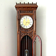 c1900 High Quality English Gothic Revival Longcase Clock in Mahogany