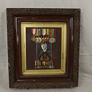Framed Medal Group - Captain Of The Royal Yacht H.A. Palmer