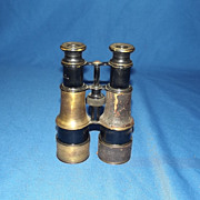 A Pair of WW1 Military Issue Field Glasses By Lemair