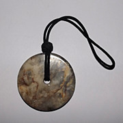 Ching Dynasty Chinese Nephrite Jade Bi-Disk Pendant