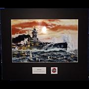 Airfix Original Artwork Cibachrome Print The German Cruiser Admiral Graf Spee