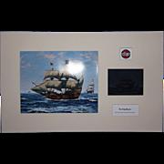 Airfix Original Artwork Cibachrome Print & Photo Negative Of The Mayflower Ship