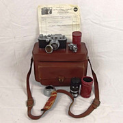 1939 Leica IIIb Rangefinder With Carrying Case & Accessories