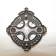 1916 Royal Irish Constabulary Senior Officer's Silver Pouch Belt Plate