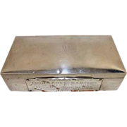 1921 Silver Cigar Box Presented Capt Smye For Defusing An IRA Bomb