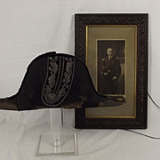 Edwardian Deputy Lieutenant Bicorn & Photograph Of The Original Owner