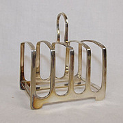 George V Sterling Silver 4 Slice Toast Rack Sheffield 1925, 71 g