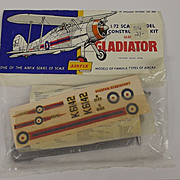 Airfix 1/72nd Scale Series 1 Gloster Gladiator Type 2 Bagged Kit 1959