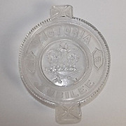 1887 Victorian Flint Glass Dish For Queen Victoria's Golden Jubilee