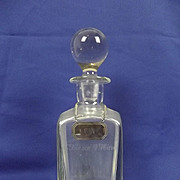 Circa 1910  Heavy Ship's Decanter From The S.S. Kaisar-I-Hind