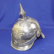 Early 20th Century Imperial German Saxony Cuirassier Steel Helmet
