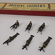 Britains Set 1318 Vickers Machine Gunners (1946 issue) With ROAN Label Box