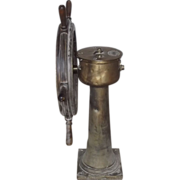 Circa 1882 - 1902 Davis & Co Ltd Bronze Ships Helm