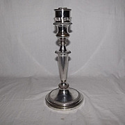 Circa 1850 – 1873 Silver Plated Candlestick By Hawksworth, Eyre & Co