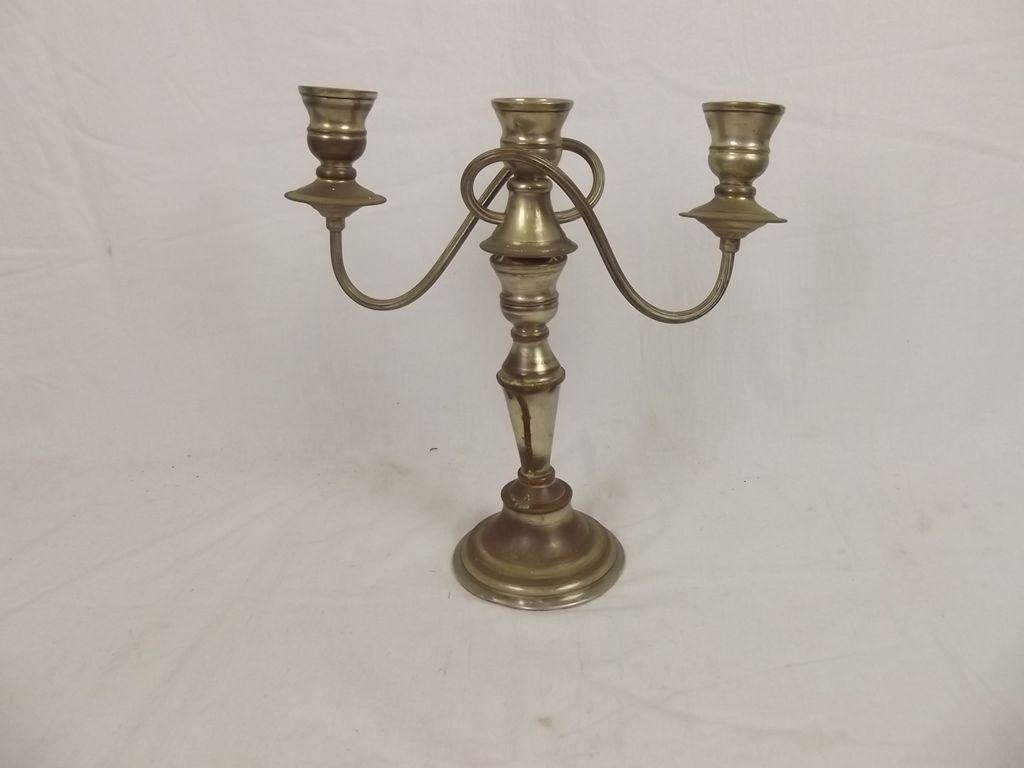 Vintage Silver Plated Copper Candelabra