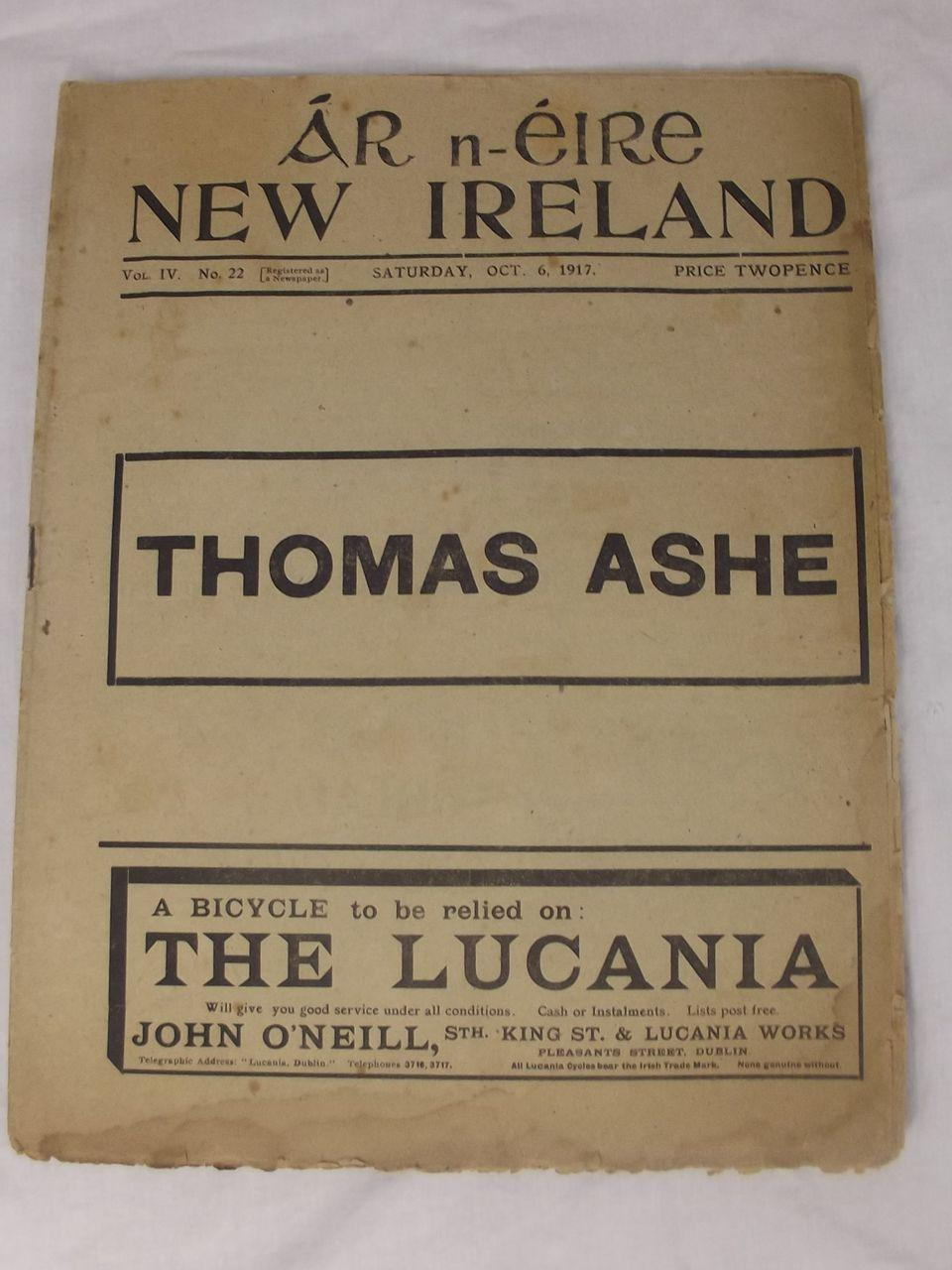 Ar n-Eire New Ireland Oct. 6, 1917 Irish Republican Newspaper