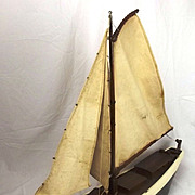 Circa 1943 Scratch Built Dutch Barge Pond Yacht